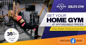 Gym Membership Facebook Shop Cover Video template