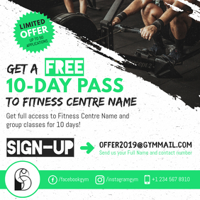 Gym Offer Instagram Post Template