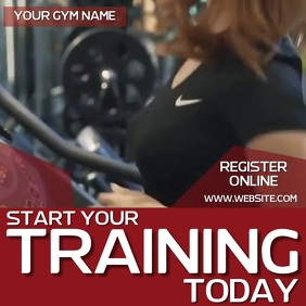 GYM ONLINE AD SOCIAL MEDIA TEMPLATE Logo