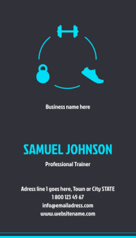 Gym Personal Trainer Business Card