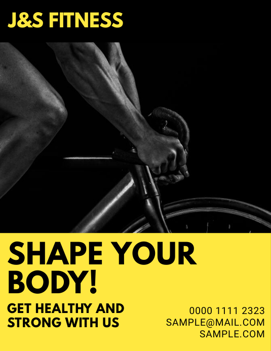 gym personal trainer flyer customize template