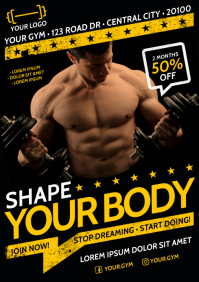 GYM POSTER A4 template
