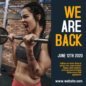 gym reopening instagram post advertisement Wpis na Instagrama template