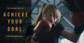 Gym/training/fitness promotion Iklan Facebook template