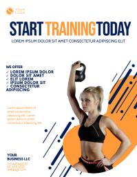Gym Training Flyer Design Template