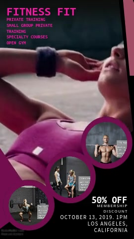 Gym Video Ad Template
