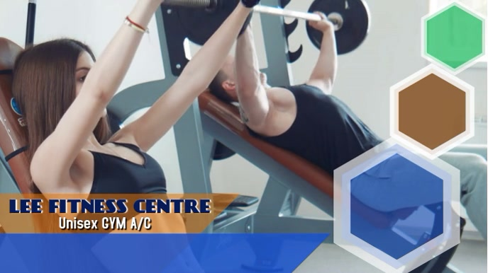 GYM video ADD Pantalla Digital (16:9) template