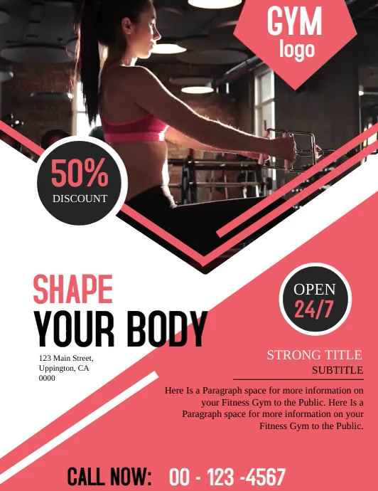 Gym Video Flyer Template