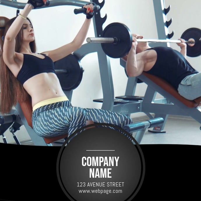 Gym Video template for advertising