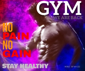 GYM WE ARE BACK TEMPLATE Rectángulo Mediano