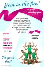 Gymnastic academy flyer