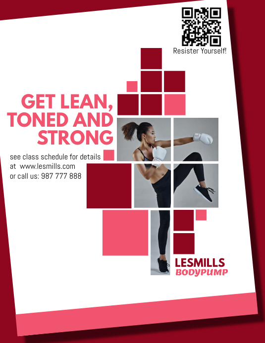 Gymnastic Flyer template