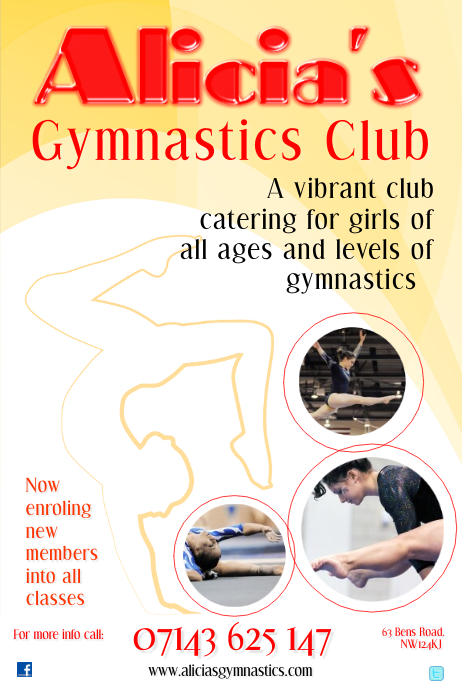 gymnastic flyer