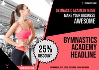 Gymnastics Academy Postkort template