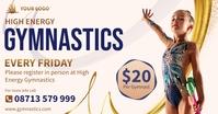Gymnastics advertisement banner template