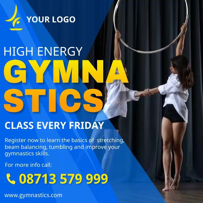 Gymnastics banner advert Instagram post Square (1:1) template