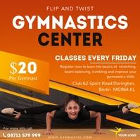 Gymnastics center advertisement Instagram template