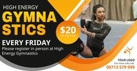 Gymnastics clinic advertisement banner Facebook 共享图片 template