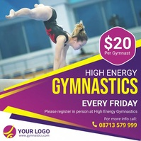 Gymnastics coaching service social media adve Kwadrat (1:1) template