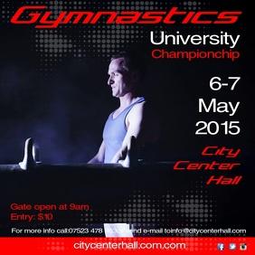 Gymnastics competition Post