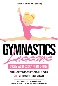Gymnastics Lessons Poster