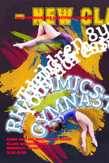 Gymnastics Poster Template