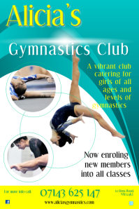 Gymnastics Poster Template