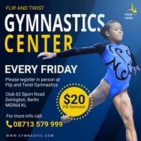 Gymnasts center advertisement social media po template