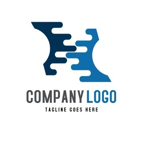 H alphanumeric company business logo