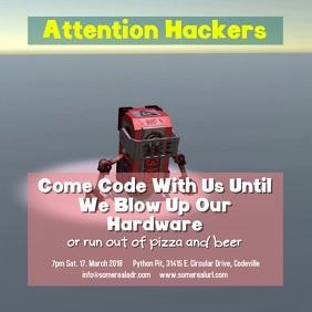 Hack Flyer Template