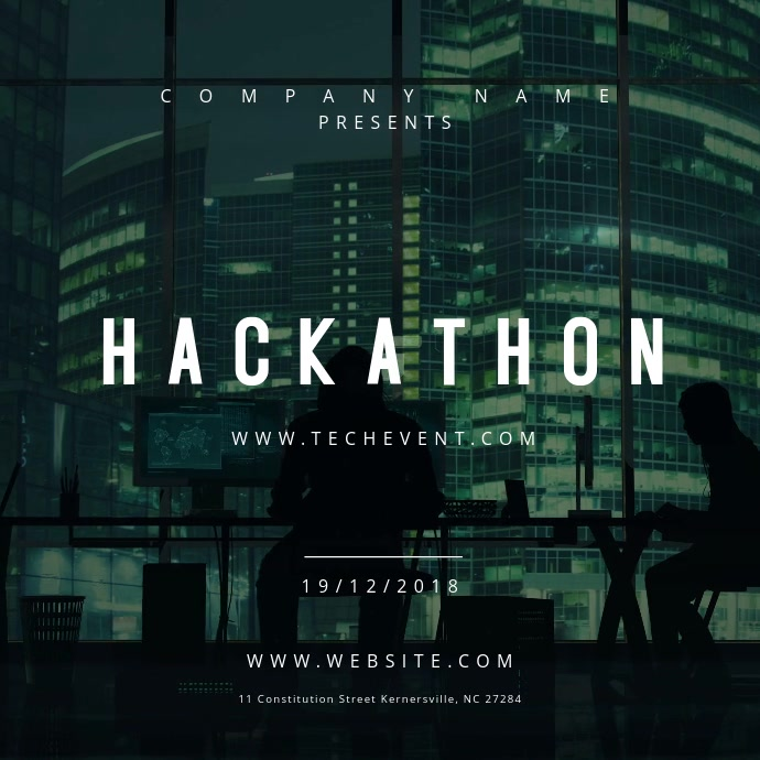 Hackathon Event Motion Poster Quadrat (1:1) template