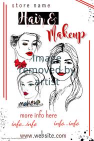 Hair & Makeup Poster