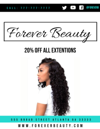 Hair Ad Flyer (US Letter) template