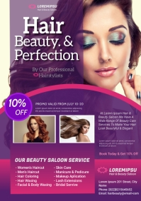 hair and beauty saloon flyer