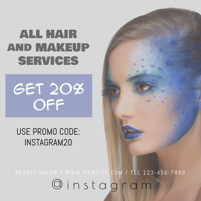 Hair and Makeup Services Instagram Banner