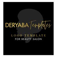 Hair Beauty Fashion Salon Gold Logo template