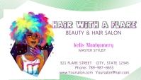 Hair beauty salon shop stylist card Biglietto da visita template