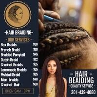Hair Braiding Instagram 帖子 template