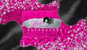 Hair business card template