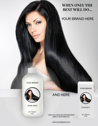 HAIR CARE PRODUCT Flyer (US Letter) template