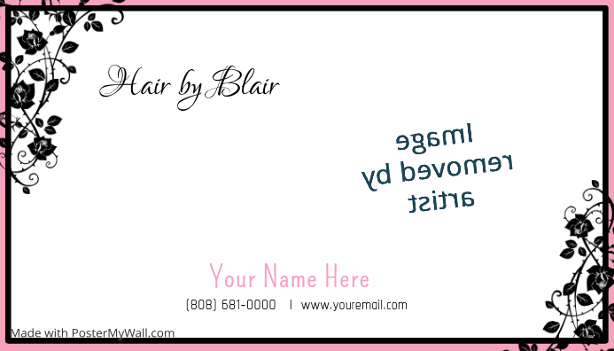 Hair Design Business Card