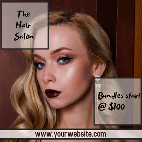 Hair extensions template