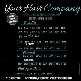Hair Price List