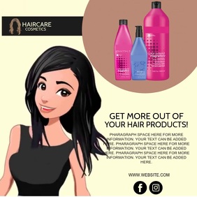 HAIR PRODUCTS SALON AD Template