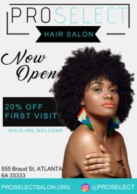 Hair salon A4 Poster template