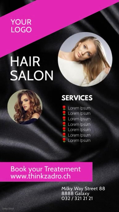 Hair Salon Beauty Studio story ad Advert História do Instagram template