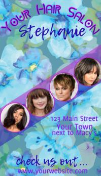 Hair Salon Business Card Cartão de visita template