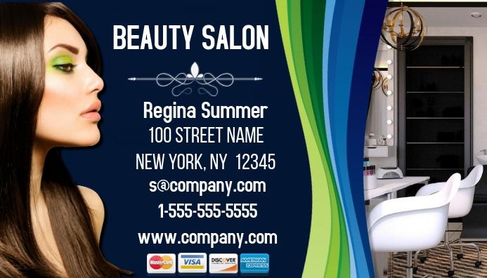 Hair Salon Business Card Template Postermywall