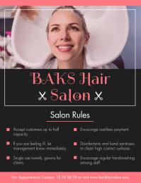 Hair Salon Coronavirus Guidelines Flyer
