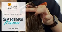 Hair salon cut and color flyer Imagem partilhada do Facebook template